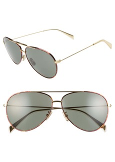 CELINE 61mm Aviator Sunglasses