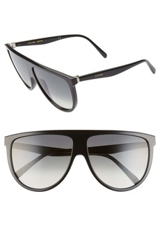 CELINE 62mm Oversize Flat Top Sunglasses