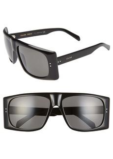 CELINE 63mm Oversize Flat Top Sunglasses