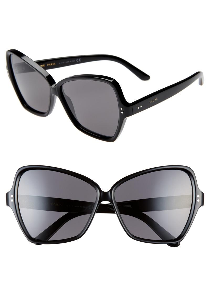 caee72acb5001 Celine CELINE 64mm Oversize Butterfly Sunglasses