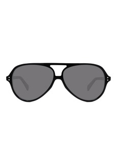 Celine Acetate International-Fit Aviator Sunglasses  Black
