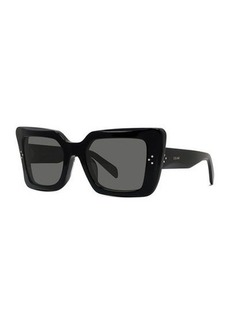 Celine Dramatic Acetate Cat-Eye Sunglasses