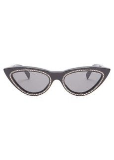 Celine Eyewear Crystal-embellished cat-eye sunglasses