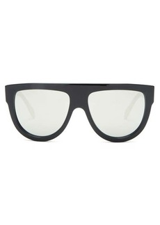 Celine Eyewear Mirrored flat-top acetate sunglasses