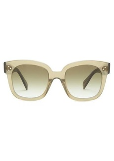 Celine Eyewear Oversized D-frame acetate and metal sunglasses