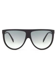 Celine Eyewear Oversized flat-top acetate sunglasses