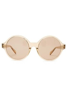 Celine Eyewear Oversized round acetate sunglasses