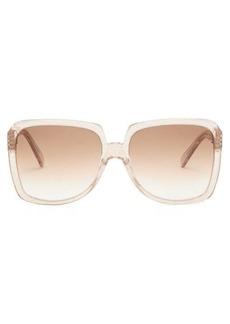 Celine Eyewear Oversized square acetate sunglasses