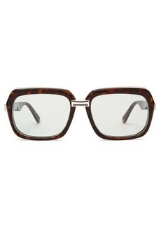 Celine Eyewear Oversized square acetate sunglasses