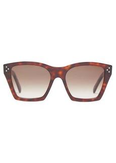 Celine Eyewear Square tortoiseshell-effect acetate sunglasses