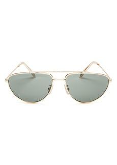 CELINE Men's Brow Bar Aviator Sunglasses, 59mm