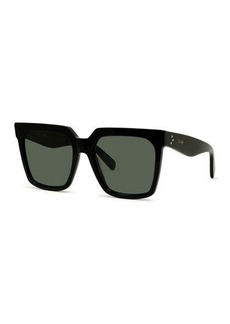 Celine Square Acetate Sunglasses w/ Side Studs