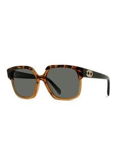 Celine Two-Tone Acetate Square Sunglasses