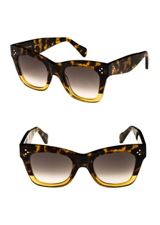 Celine Céline 50mm Gradient Butterfly Sunglasses