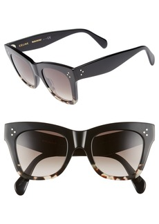 CELINE 50mm Gradient Butterfly Sunglasses