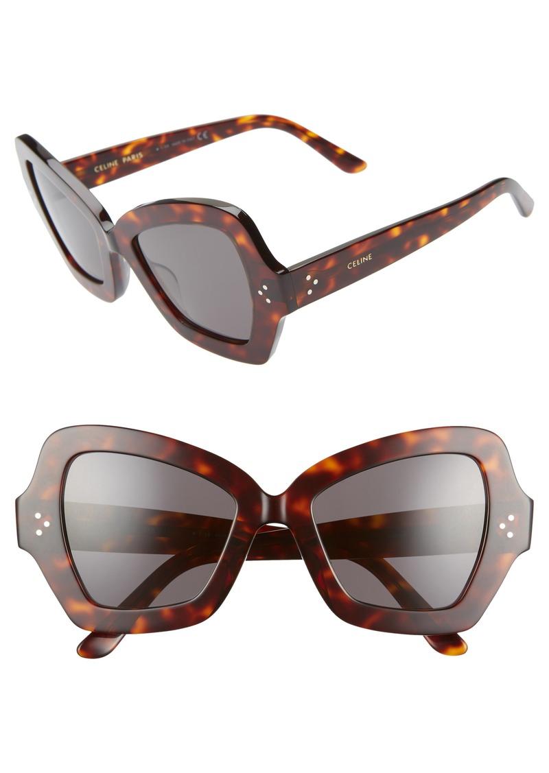 de3aecdcd54be Celine CELINE 54mm Butterfly Sunglasses