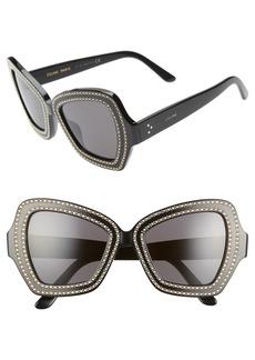 CELINE 54mm Butterfly Sunglasses