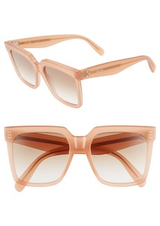 CELINE 55mm Gradient Square Sunglasses