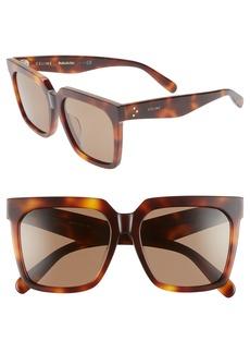 Celine Céline 55mm Polarized Square Sunglasses