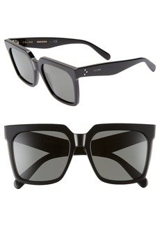 Celine 55mm Special Fit Polarized Square Sunglasses