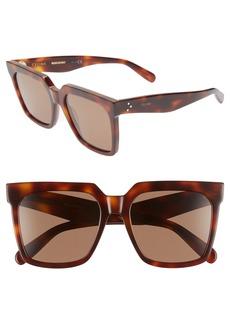 Celine Céline 55mm Special Fit Polarized Square Sunglasses