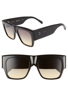 CELINE Special Fit 53mm Gradient Flat Top Sunglasses