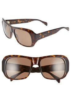 Celine Céline 56mm Special Fit Polarized Wrap Sunglasses