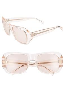Celine Céline 56mm Special Fit Transparent Wrap Sunglasses