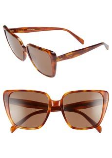 CELINE 57mm Modified Square Cat Eye Sunglasses