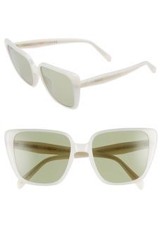 Celine Céline 57mm Modified Square Cat Eye Sunglasses