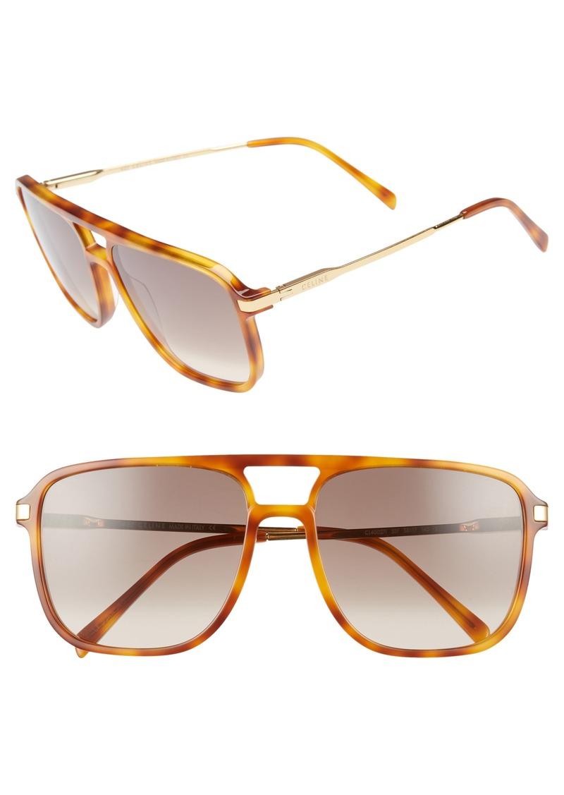 bc11eb16d111b Celine Céline 58mm Gradient Navigator Sunglasses