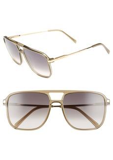 Celine Céline 58mm Gradient Navigator Sunglasses