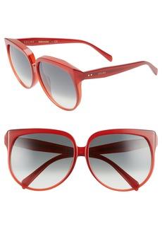 Celine Céline 63mm Oversize Cat Eye Sunglasses