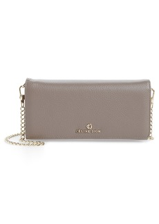 Celine Céline Dion Adagio Leather Crossbody Wallet