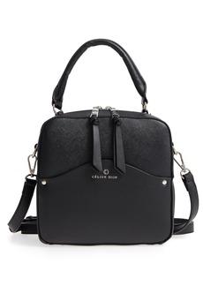 Celine Céline Dion Motif Top Handle Leather Satchel