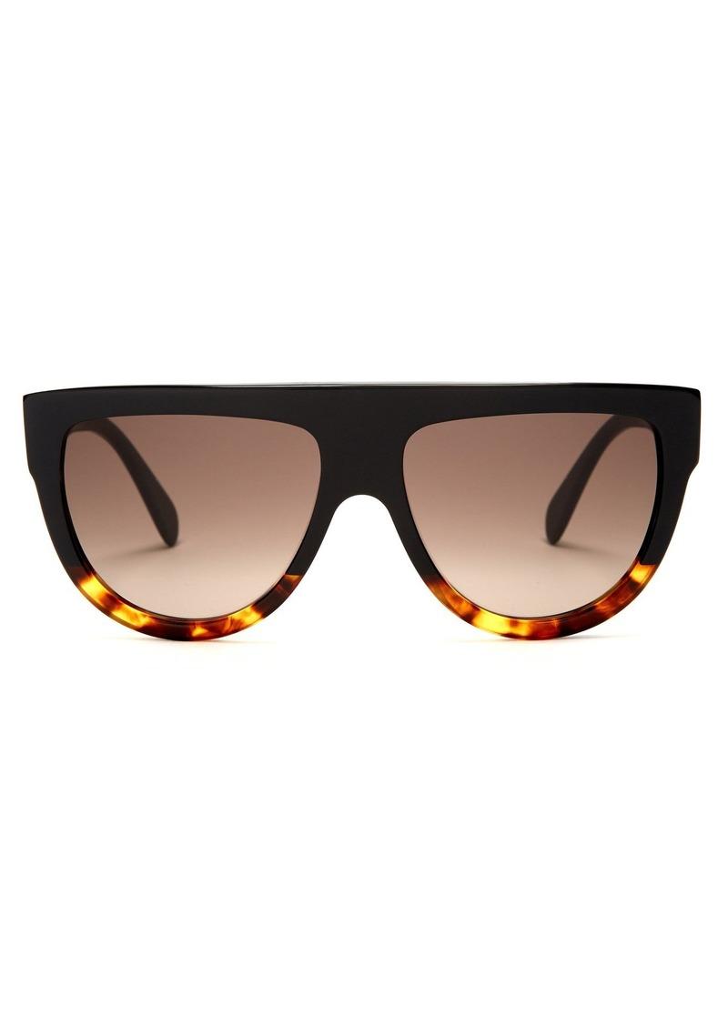 Celine Céline Eyewear Aviator D-frame acetate sunglasses