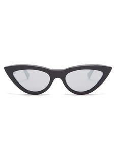 Celine Eyewear Cat-eye mirrored acetate sunglasses