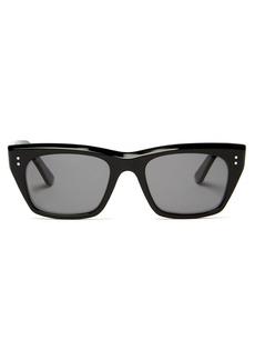 Celine Eyewear D-frame angular acetate sunglasses