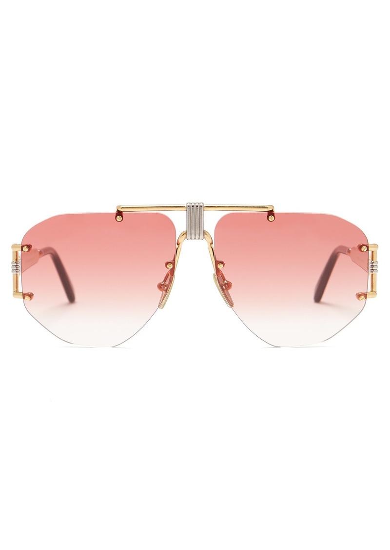 fe39f7c66e95 Celine Céline Eyewear Fragola aviator gold-tone metal sunglasses ...