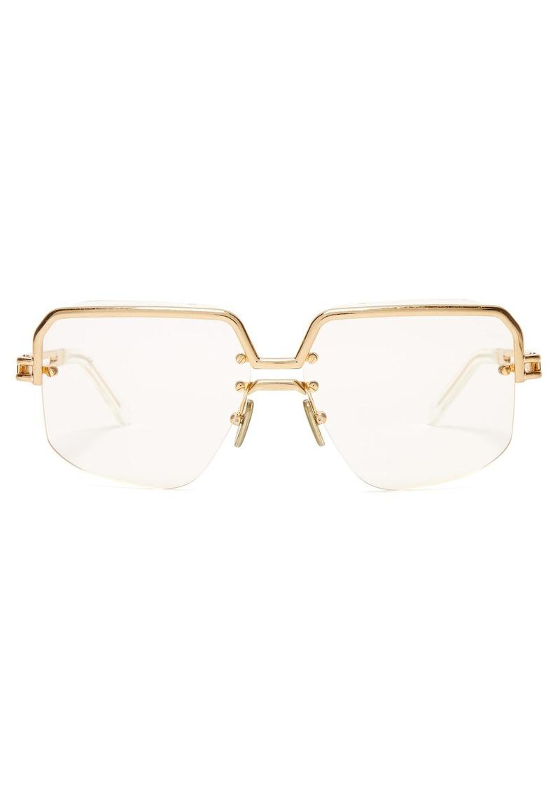 8ad9676ebb75 Celine Céline Eyewear Gold-tone top frame sunglasses