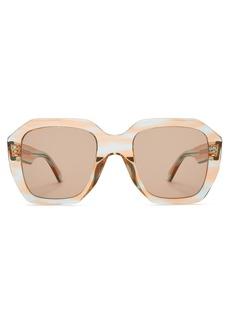 Celine Céline Eyewear Oversized acetate sunglasses