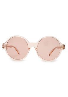 Celine Céline Eyewear Oversized round-frame acetate sunglasses