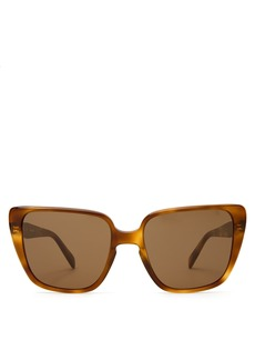 Celine Céline Eyewear Oversized square-frame acetate sunglasses