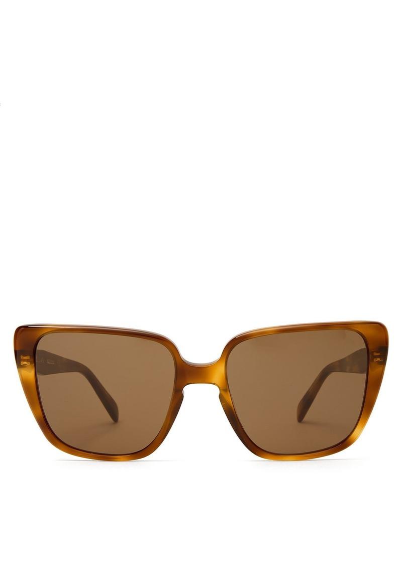 21a35d150d3 Celine Céline Eyewear Oversized square-frame acetate sunglasses ...