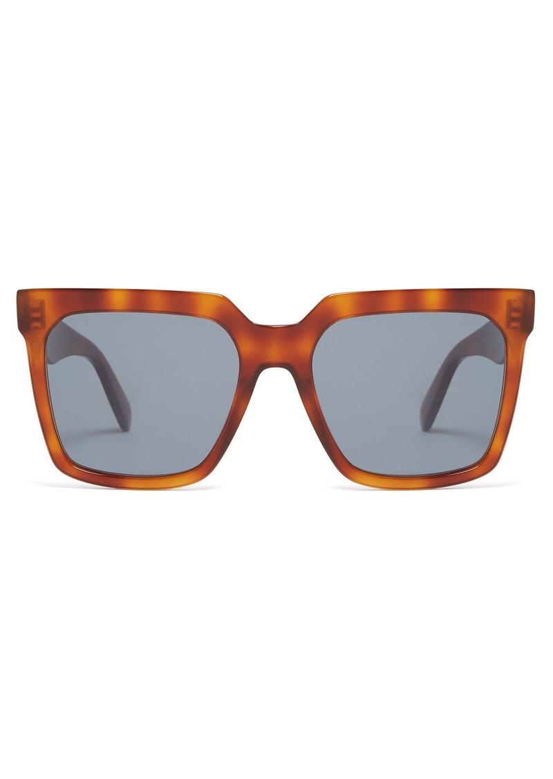 55993863b19d Celine Celine Eyewear Oversized square-frame acetate sunglasses ...