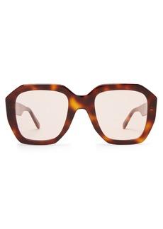 Celine Céline Eyewear Oversized tortoiseshell acetate sunglasses