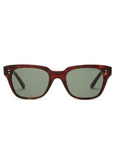 Celine Eyewear Rectangle tortoiseshell-acetate sunglasses