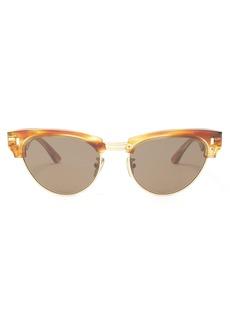 Celine Céline Eyewear Round-frame tortoiseshell sunglasses