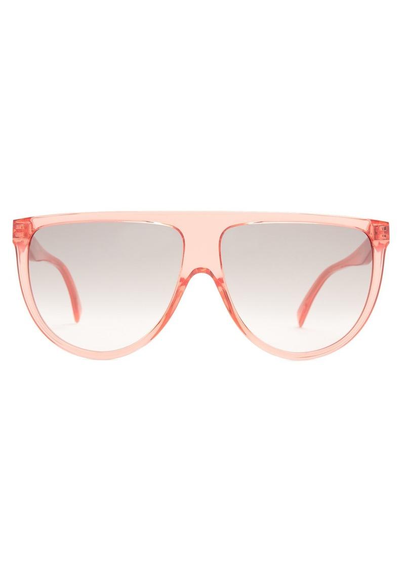 3f0f7ef3d128 Celine Céline Eyewear Shadow aviator D-frame acetate sunglasses