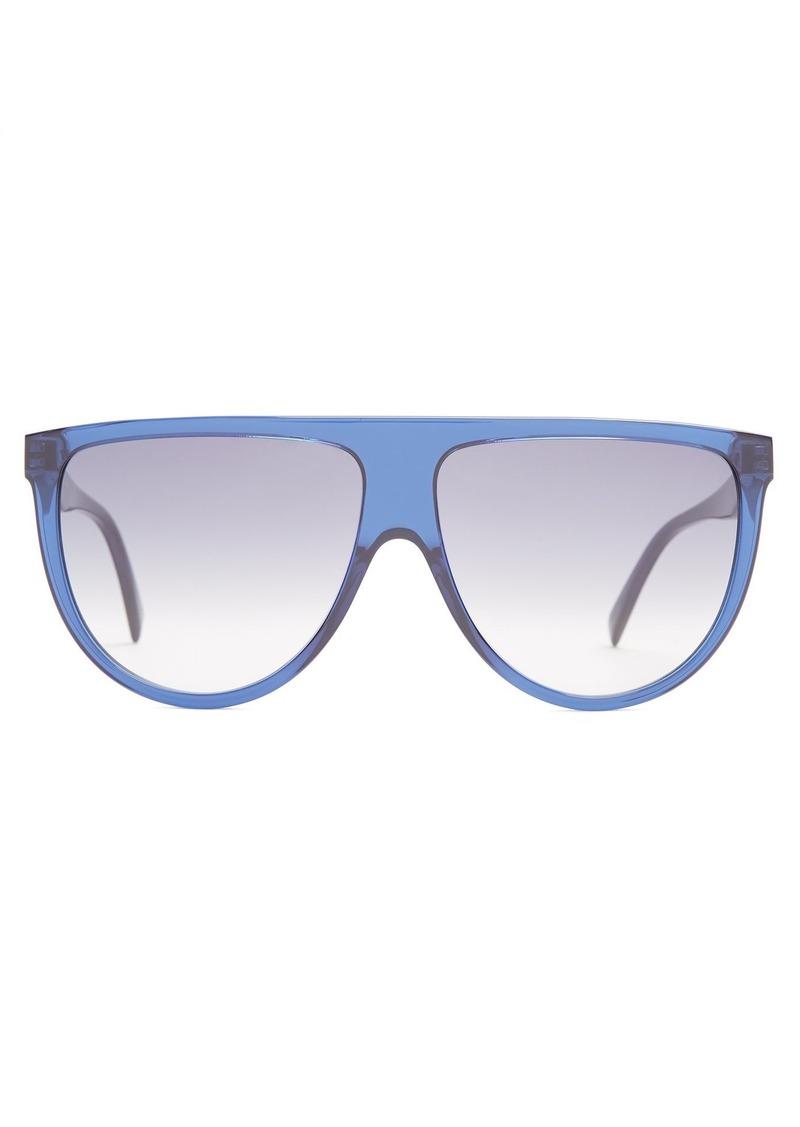 3d8d47b1c013 Celine Céline Eyewear Shadow aviator D-frame acetate sunglasses Now ...